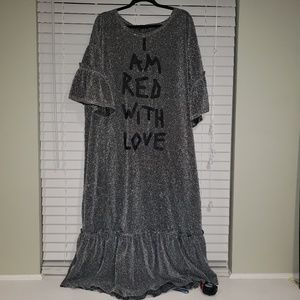 """Shein """"I am red with love"""" night gown"""